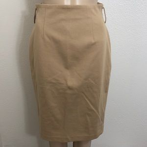 🆕 Spiegel Ponte Knit Gold Tan Pencil Skirt